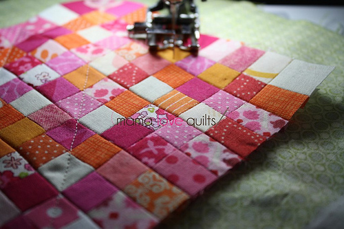 Dollhouse quilt_quilting