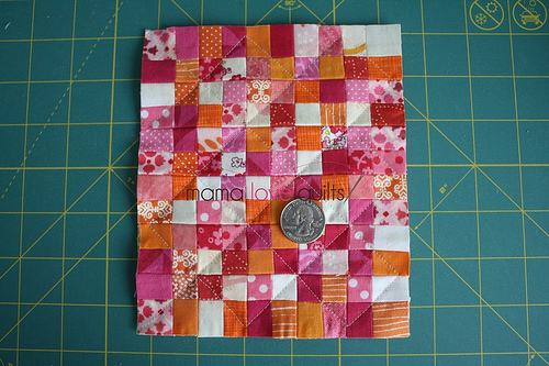 Dollhouse quilt_top quilted