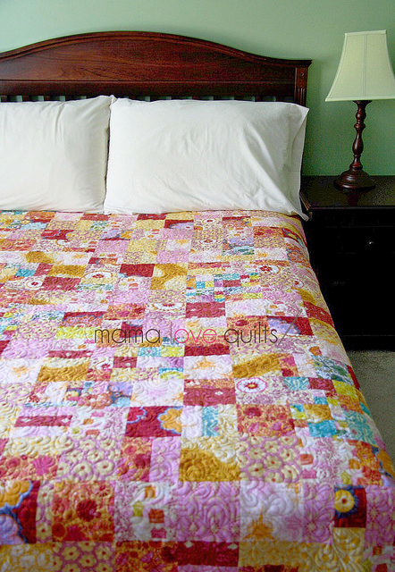 Anna Maria Horner Flannel Quilt_Finished