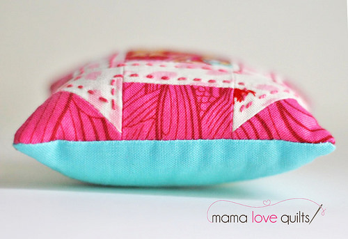 Churn Dash Pincushion_Side