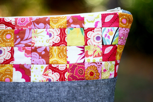 Mama Love Quilts_Patchwork Pouch Closeup