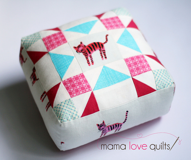 Cotton and Steel Tiger Pincushion