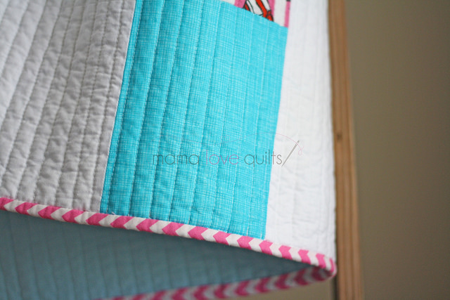 Hello Kitty_Modern Log Cabin Quilt_Finished3