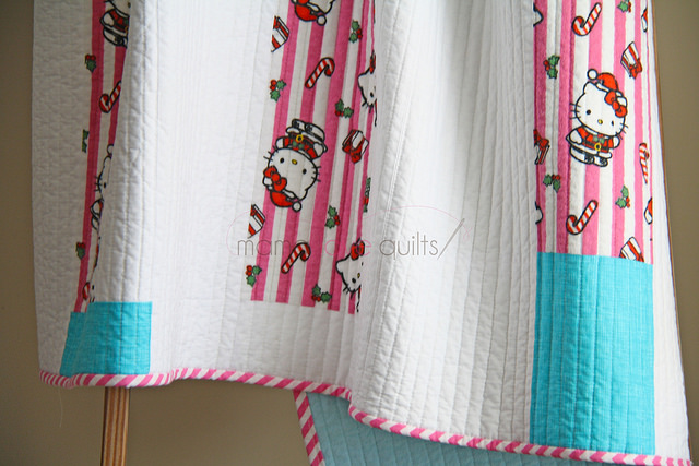 Hello Kitty_Modern Log Cabin Quilt_Finished2