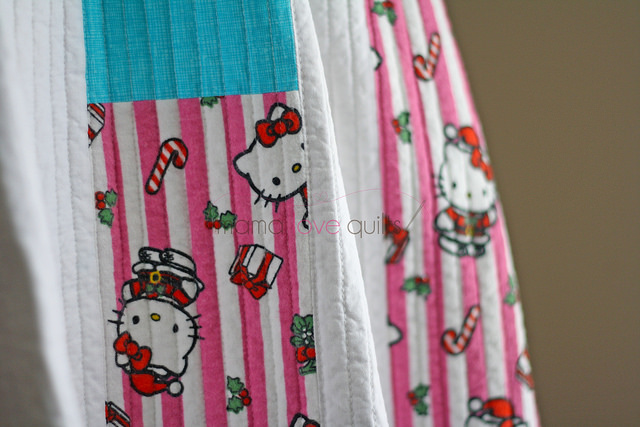 Hello Kitty_Modern Log Cabin Quilt_Finished4