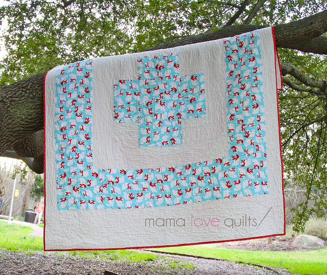 Modern Cross Quilt_back