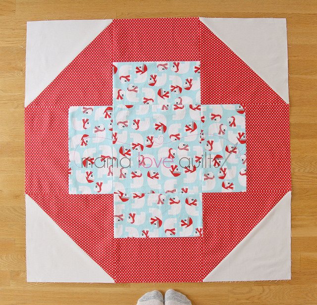 Modern Cross Quilt_block