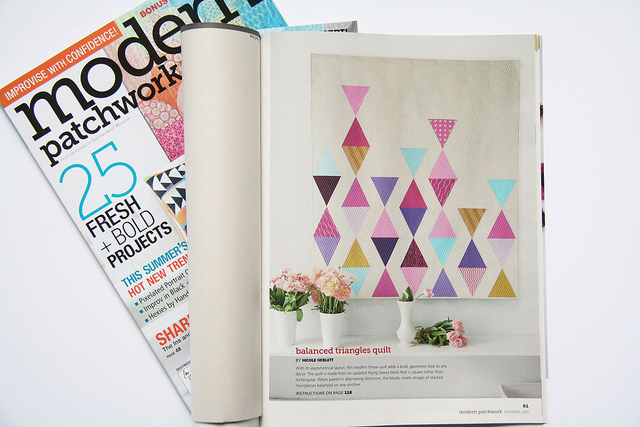 Balanced triangles quilt_modern patchwork