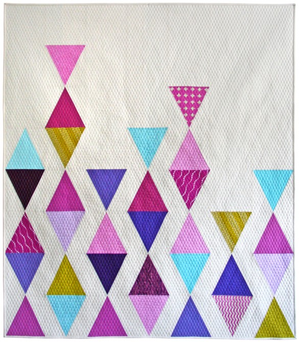 Balanced Triangles Modern Quilt by Nicole Neblett Mama Love Quilts