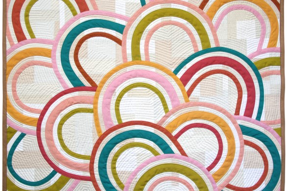 Lucky Arches Modern Quilt by Nicole Neblett