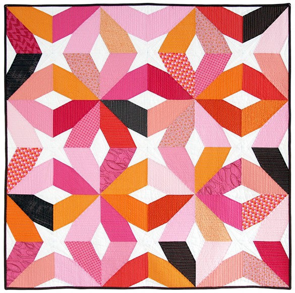 Sunset Modern Quilt by Nicole Neblett